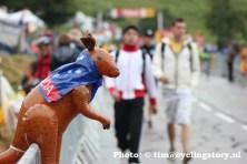 Veel Aussies op de been tijdens de Tour. (foto: © Tim van Hengel / cyclingstory.nl)