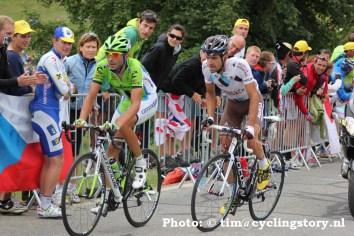 Moreno Moser en Christophe Riblon (foto: © Tim van Hengel / cyclingstory.nl)