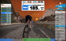 Zwift Mountain Expansion bergroute beklimming met luchtballonnen