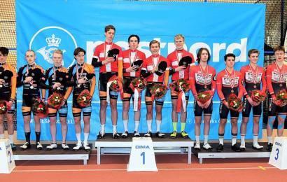 Team Børkop Cykler-Carl Ras Roskilde danske U19 mestre i holdforfølgelse