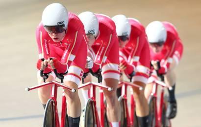 VM-sølv i holdforfølgelse til Danmark