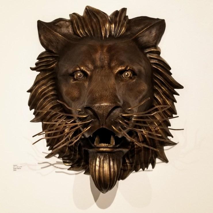 Asland - Lion Gargoyle Bronze Sculpture by Adam Nahas from Cyclops Studios