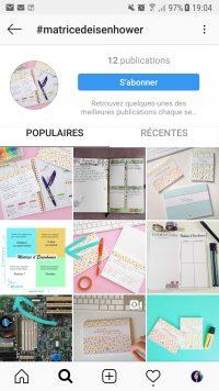 Résultat de recherches parmi des posts Instagram