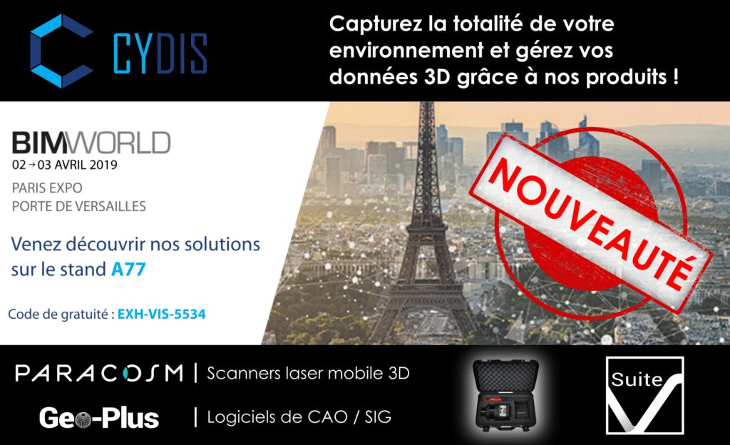 Salon BIM WORLD CYDIS scanner PX-80