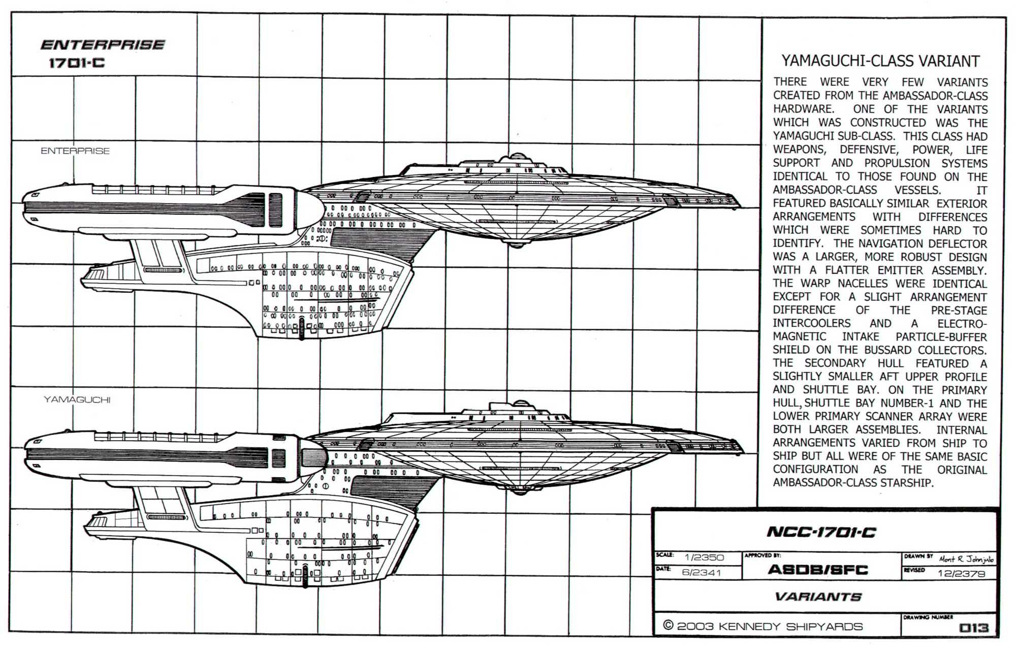 Star Trek Blueprints Starfleet Vessel Ambassador Class