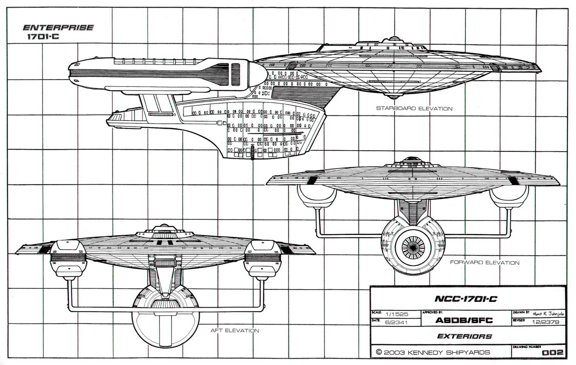 Star Trek Blueprints Starfleet Vessel Ambassador Class