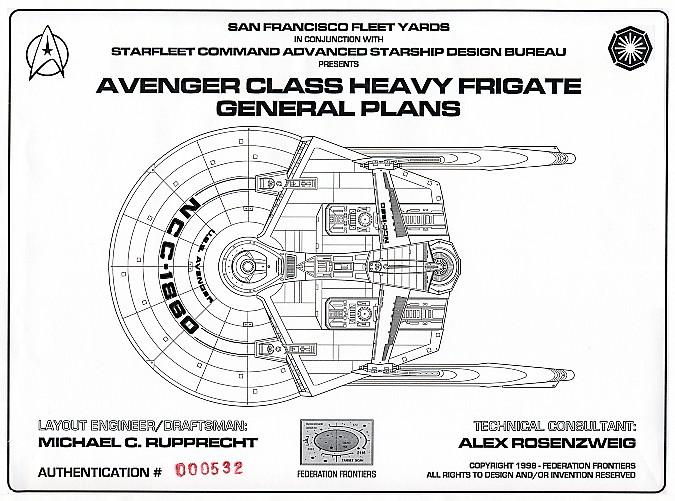Star Trek Blueprints: Avenger Class Heavy Frigate General