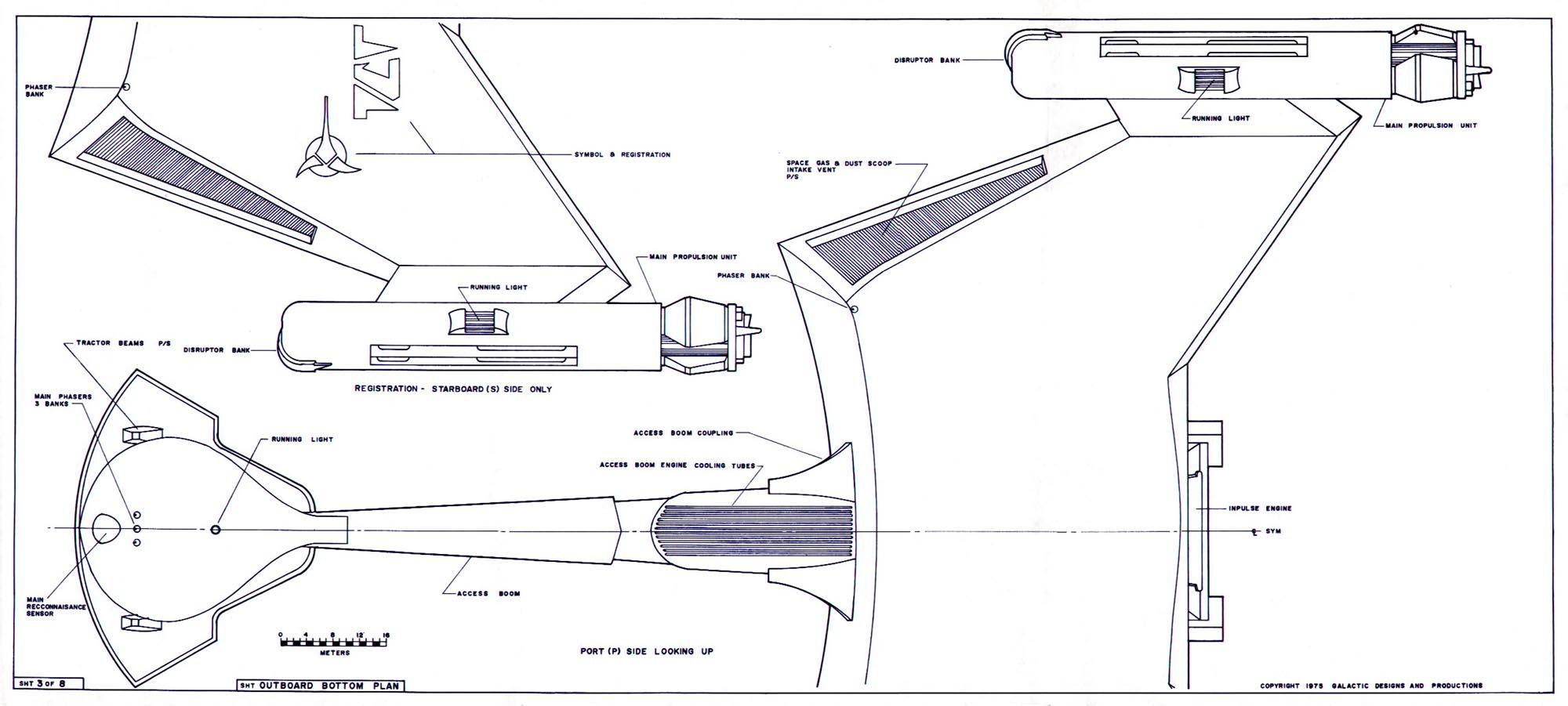 Star Trek Blueprints: Klingon D7 Class Battle Cruiser