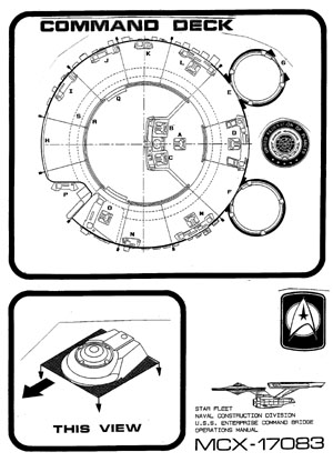 Star Trek Blueprints: U.S.S. Enterprise NCC-1701 Command