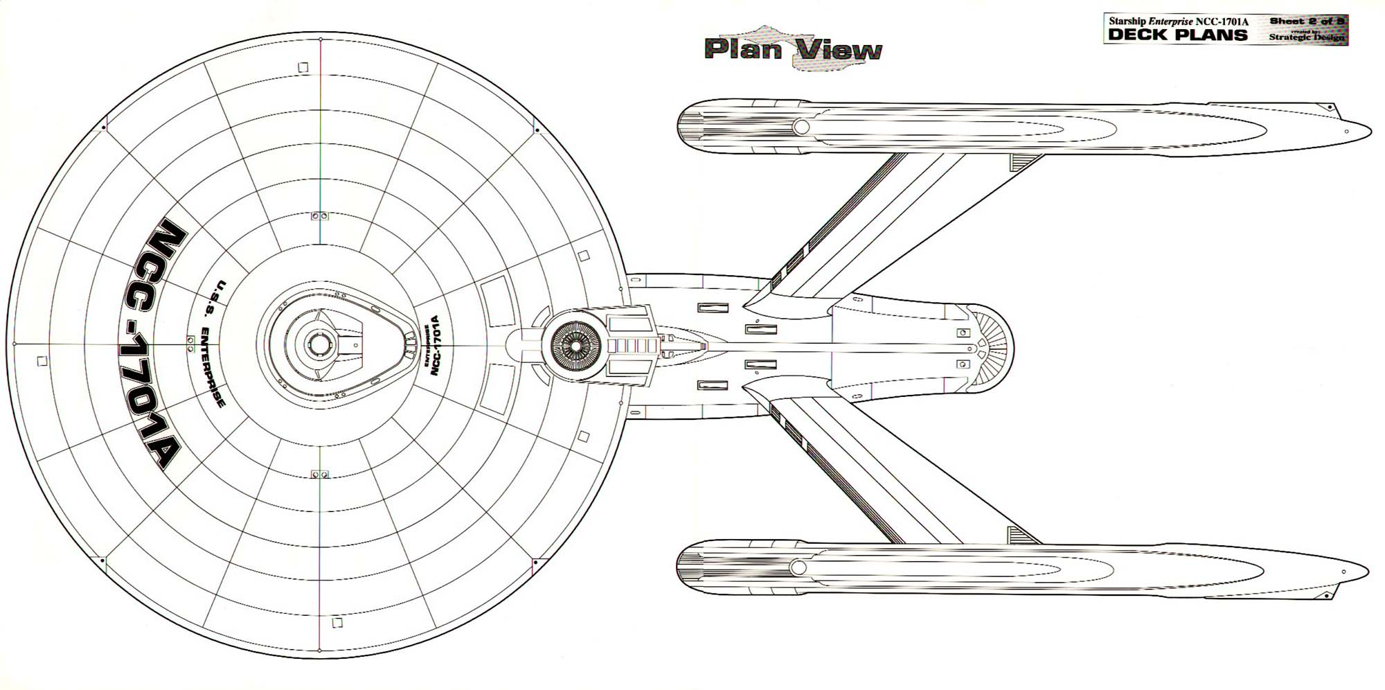 U S S Enterprise Ncc A Deck Plans