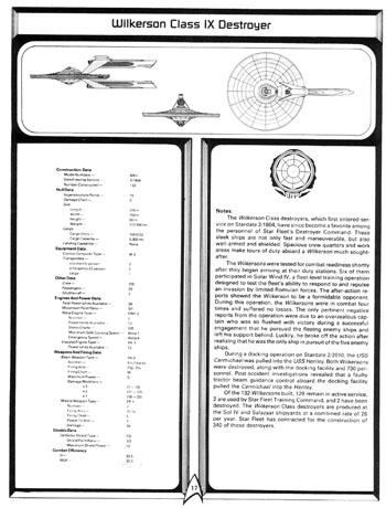 Star Trek Blueprints: FASA Federation Ship Recognition
