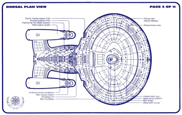 Star Trek Blueprints Galaxy Class Cruiser USS