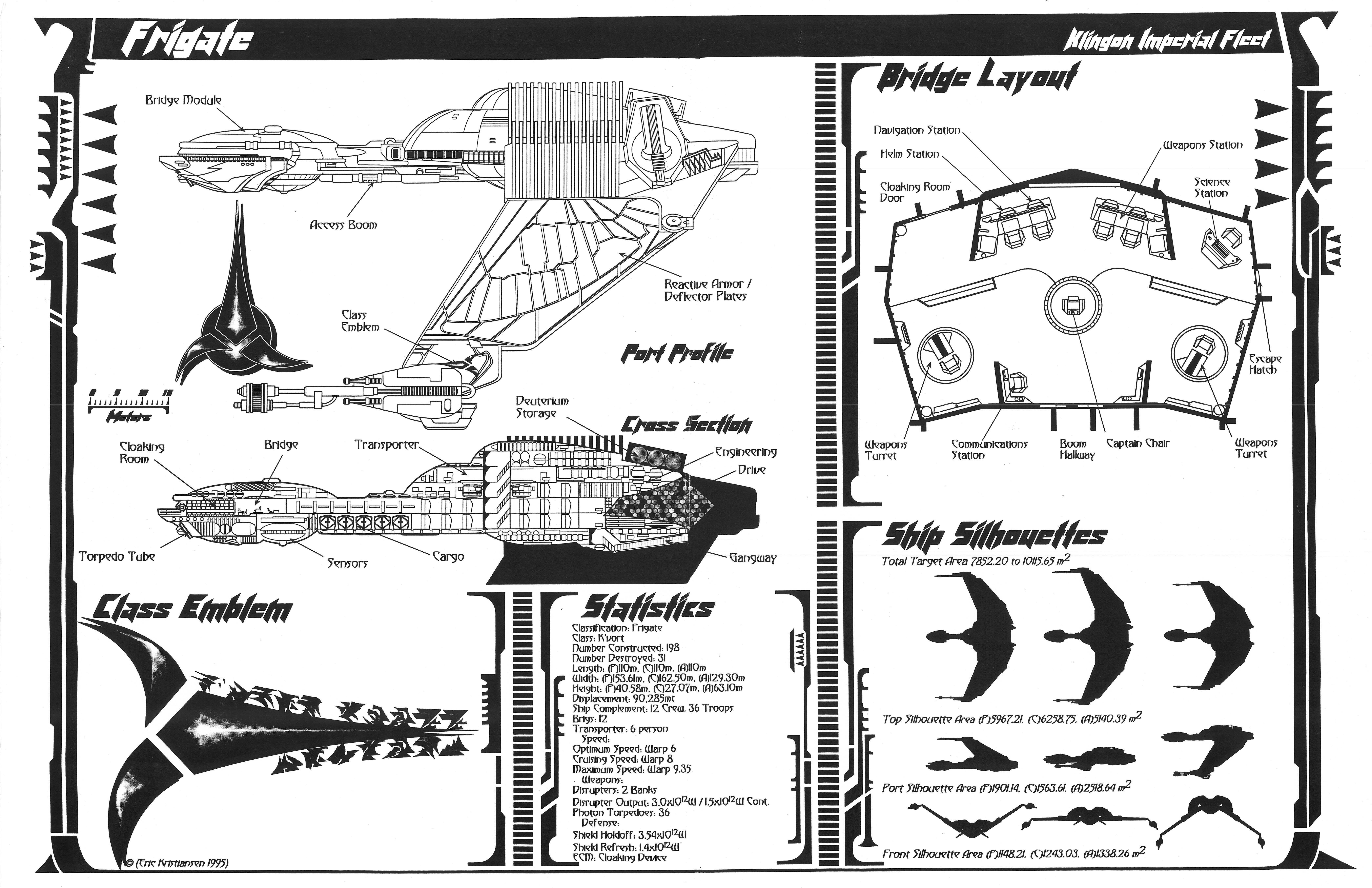 Star Trek Blueprints Jackill S Klingon K Vort Class Frigate