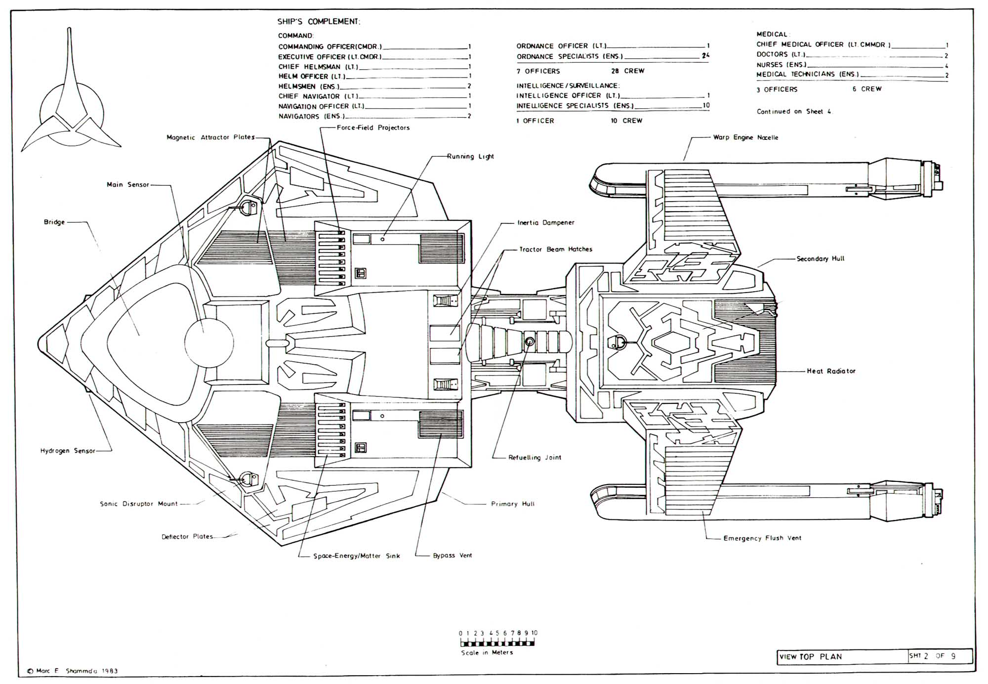 Star Trek Blueprints Klingon Destroyer K T Orr Class