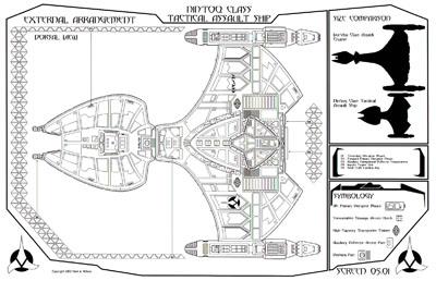 Star Trek Blueprints: Klingon Nin'Toq Class Tactical