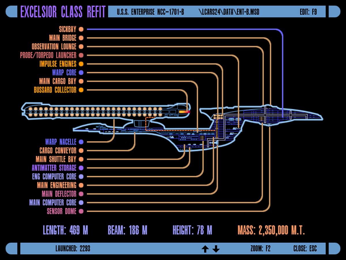 Uss Enterprise Star Trek Schematics