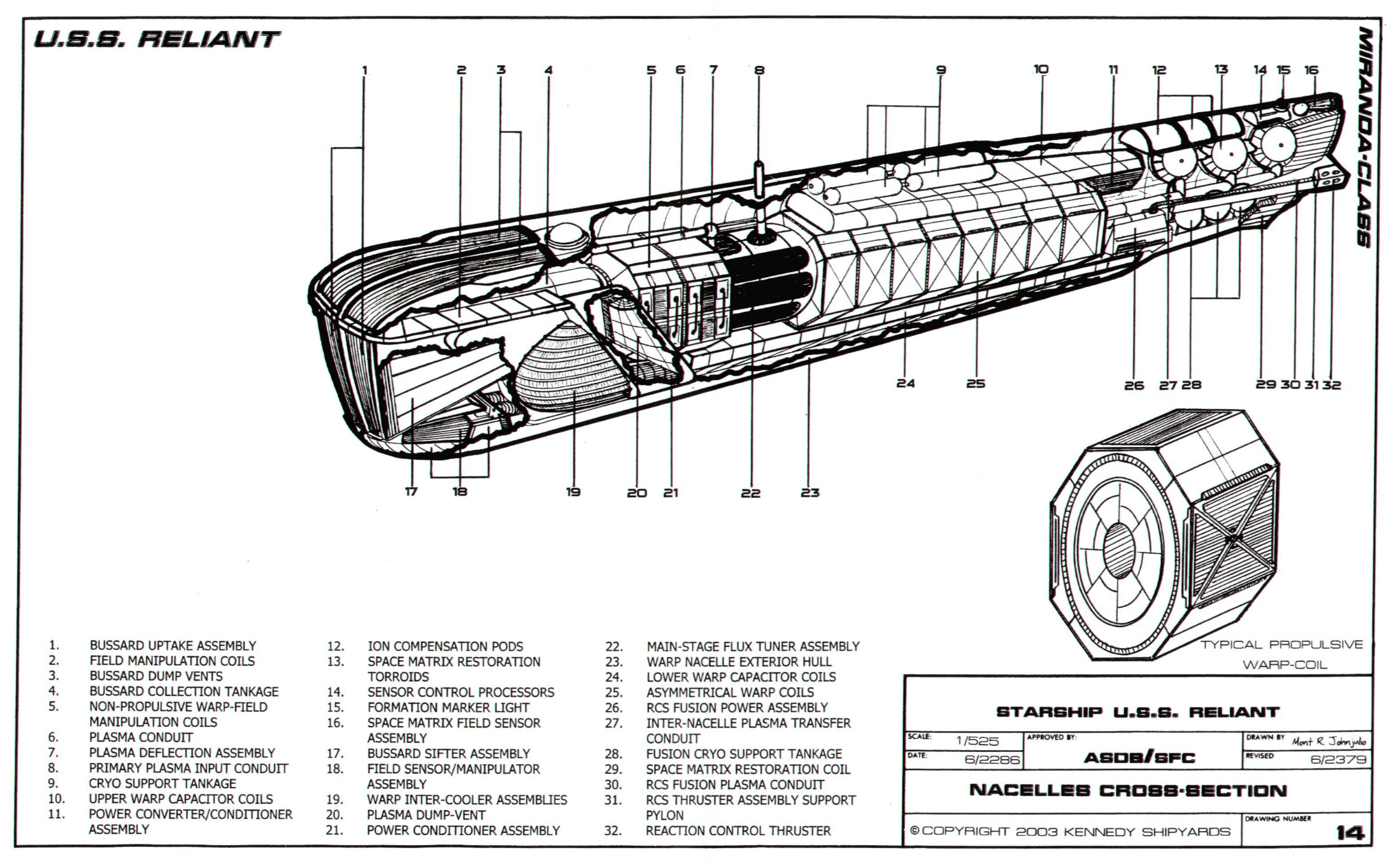 Star Trek Blueprints: Miranda Class Starship U.S.S