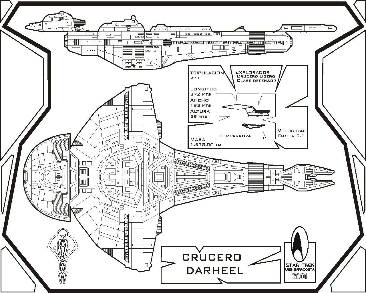 Star Trek Blueprints U S S Enterprise Ncc A Deck Plans