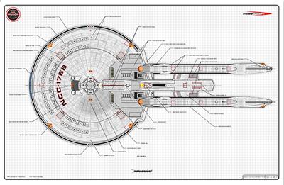 Star Trek Starship Blueprints Schematics Star Trek Defiant