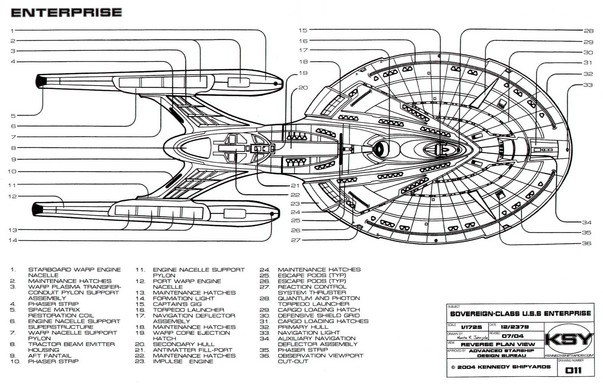 Enterprise E Schematics