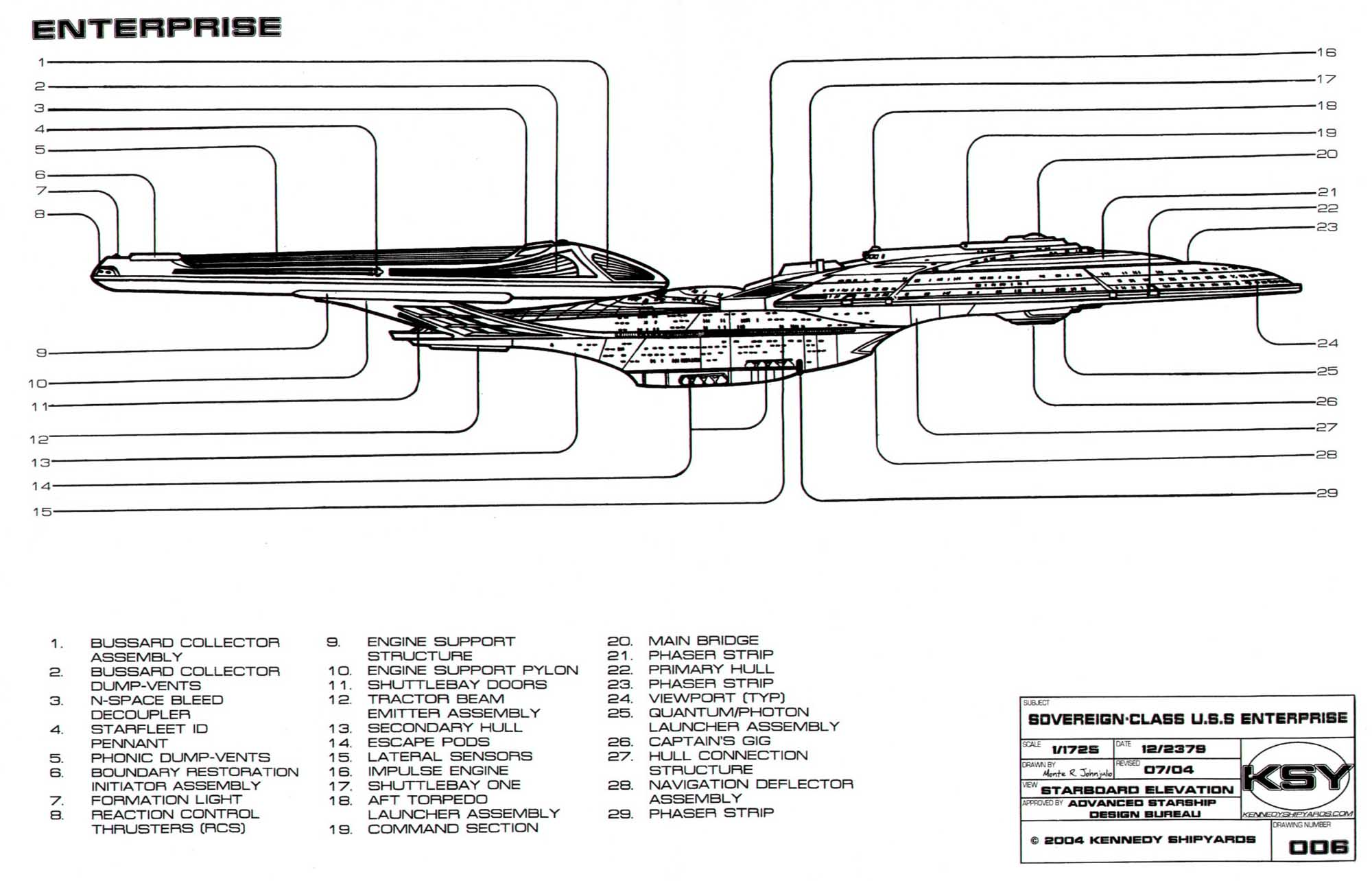 Uss Enterprise Schematics
