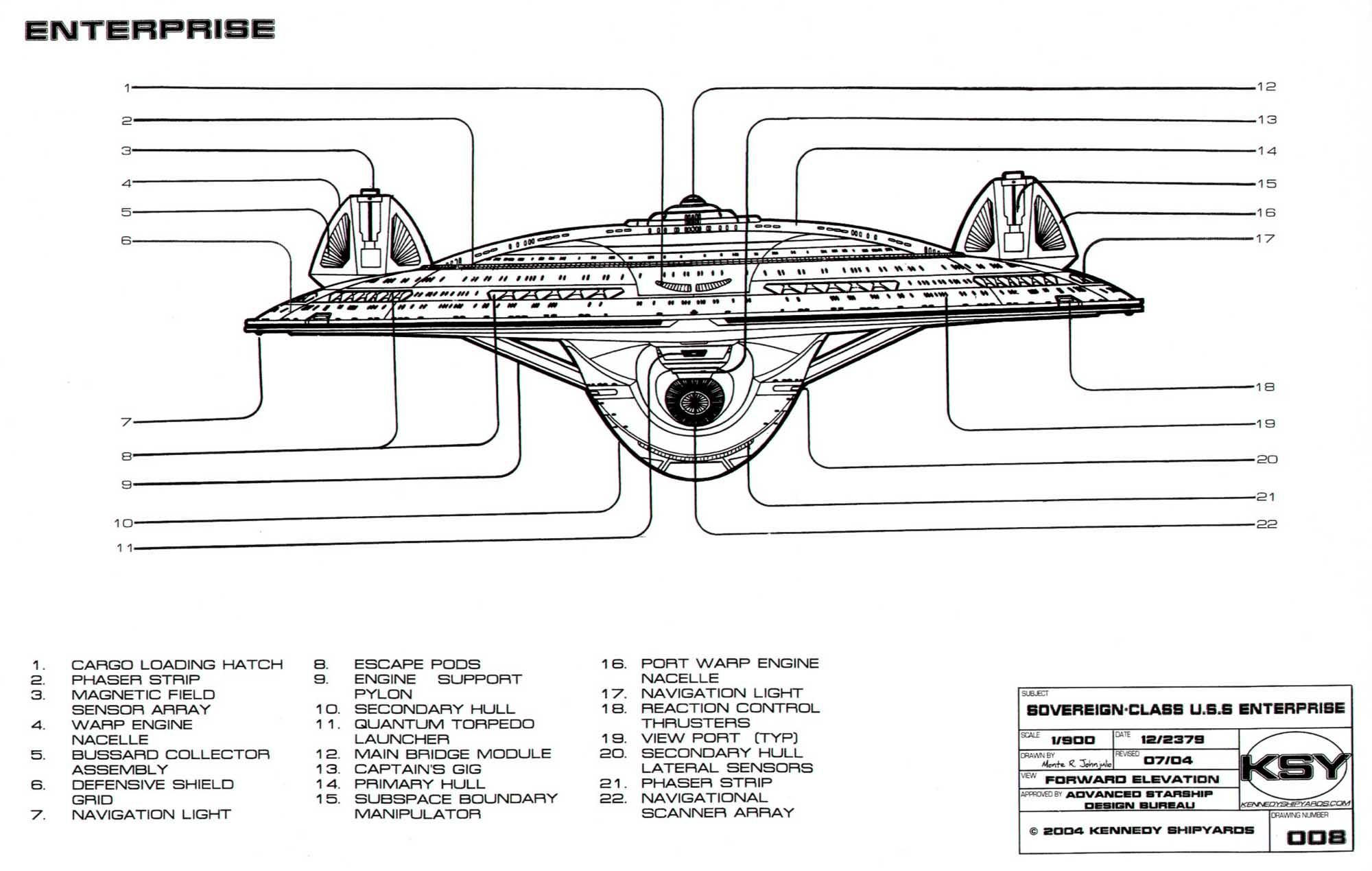 hight resolution of sovereign class federation starship u s s enterprise ncc 1701 e