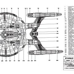 Uss Enterprise Diagram Pir Security Light Circuit Star Trek Warp Engine Nova Class Ship
