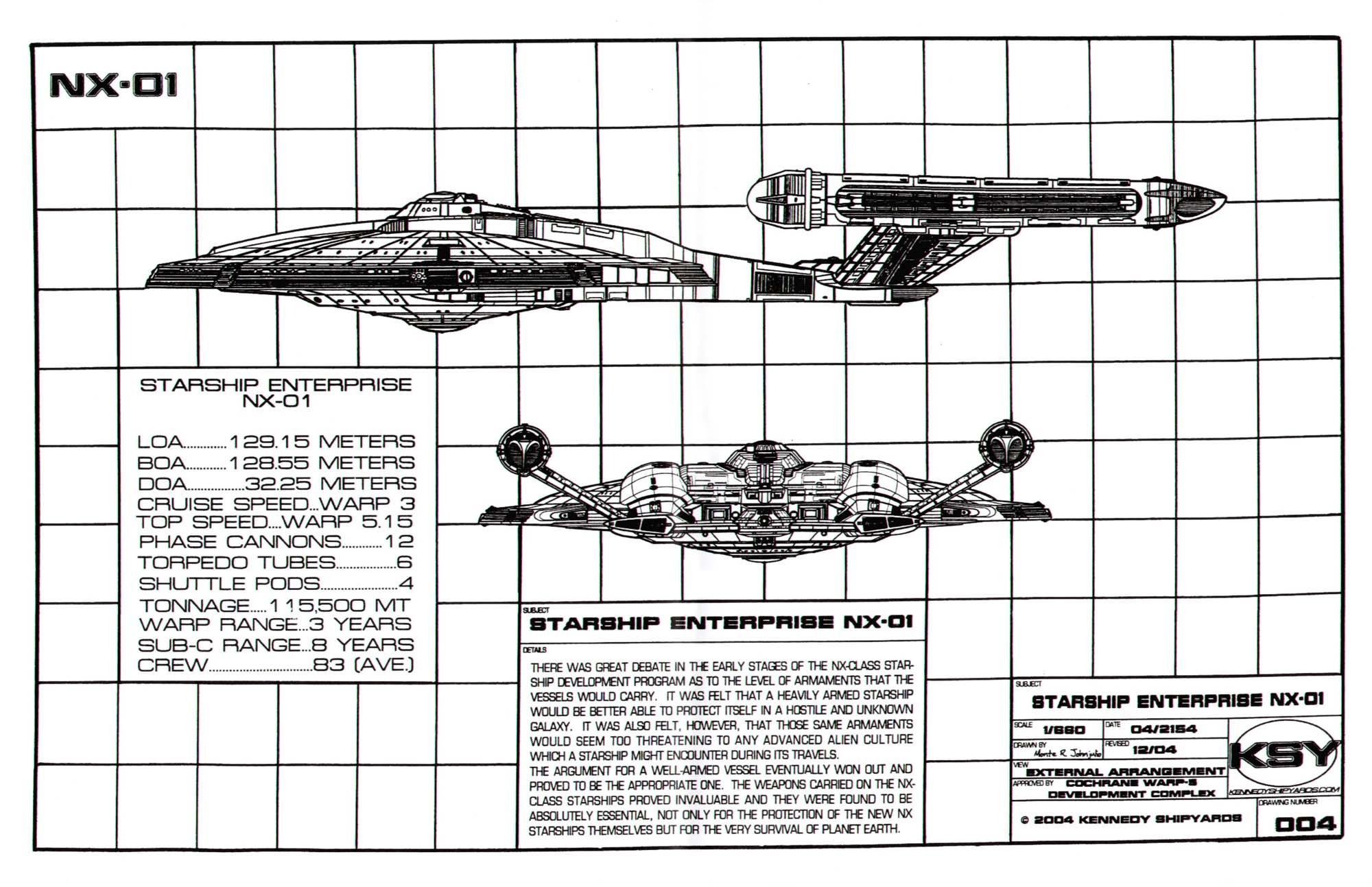 Star Trek Blueprints: Starfleet Vessel Enterprise NX-01