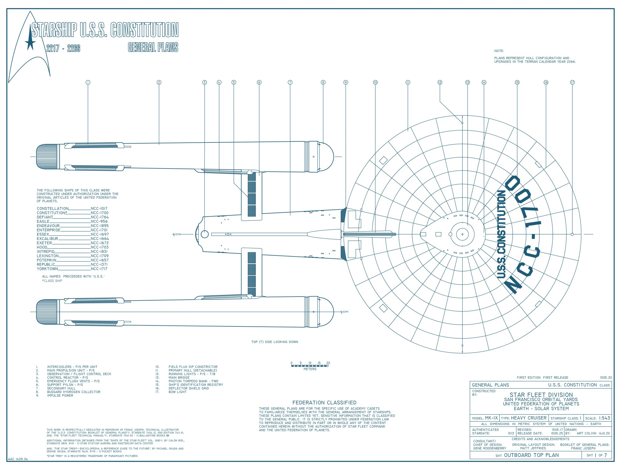 hight resolution of starship u s s constitution ncc 1700