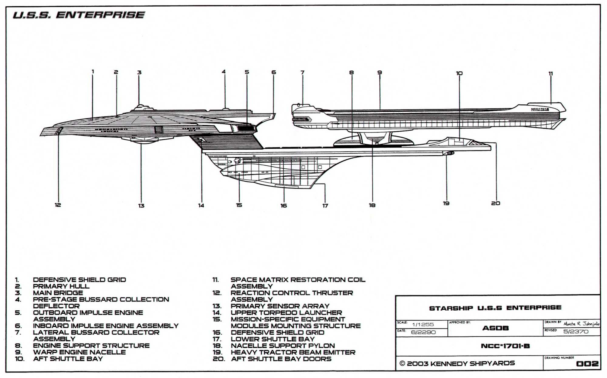 uss enterprise diagram composite cell schematic  the wiring readingrat