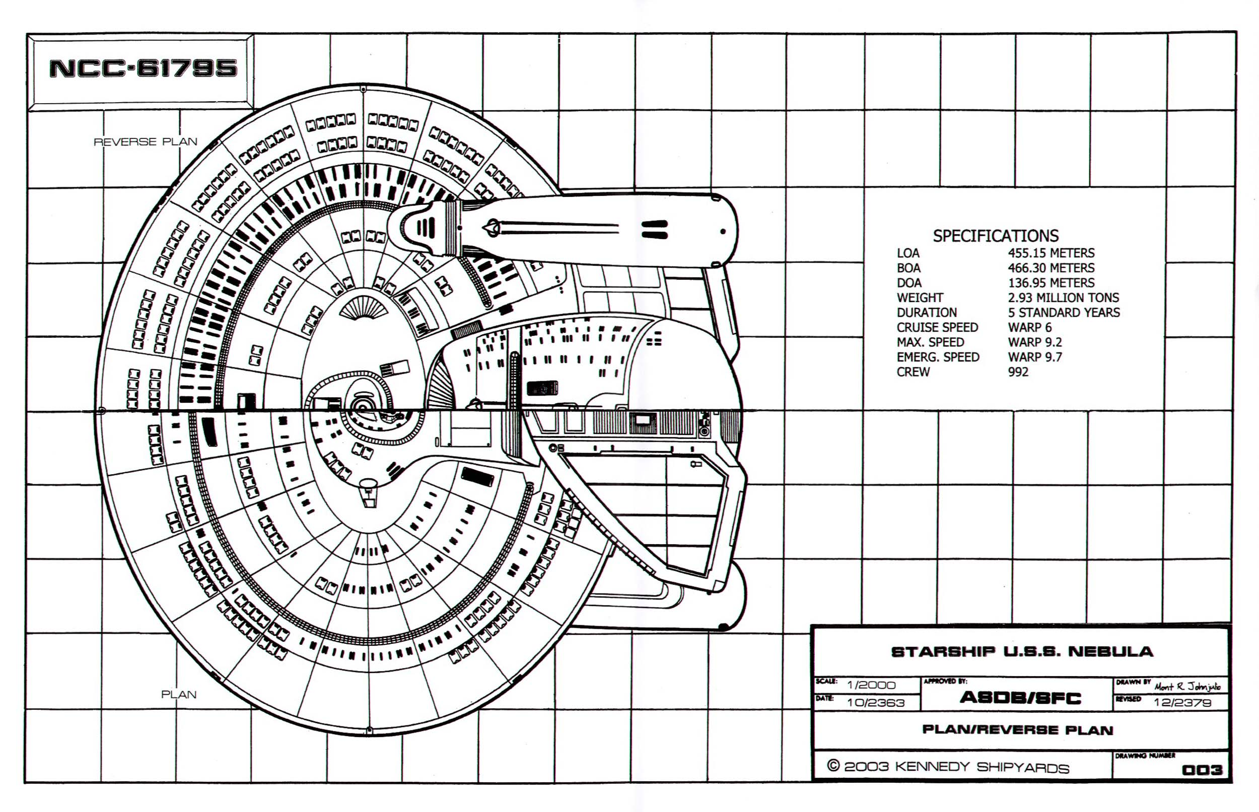 Star Trek Blueprints: Nebula Class Starship: U.S.S. Nebula