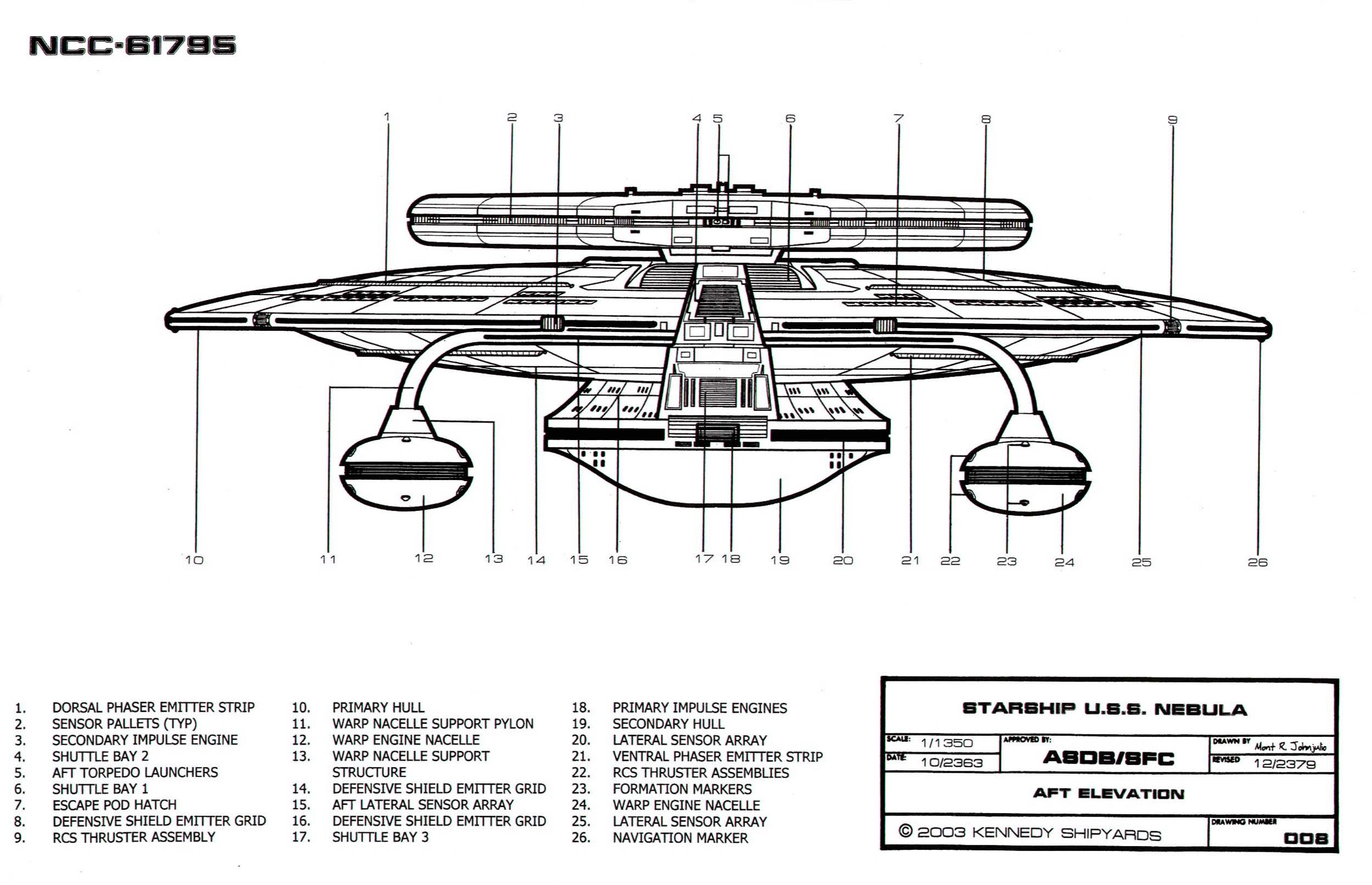 Star Trek Blueprints Nebula Class Starship U S S Nebula
