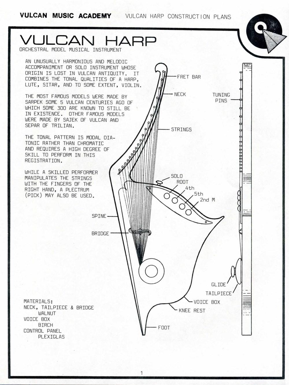 medium resolution of vulcan harp construction plans
