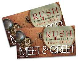 Rush Time Machine Tour 2011 Meet and Greet Contest