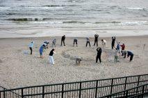 Morgongymnastik strand Polen