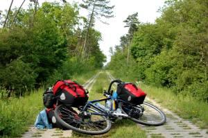 packning på cykeln i Polen