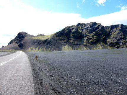 Berg på Islands sydkust