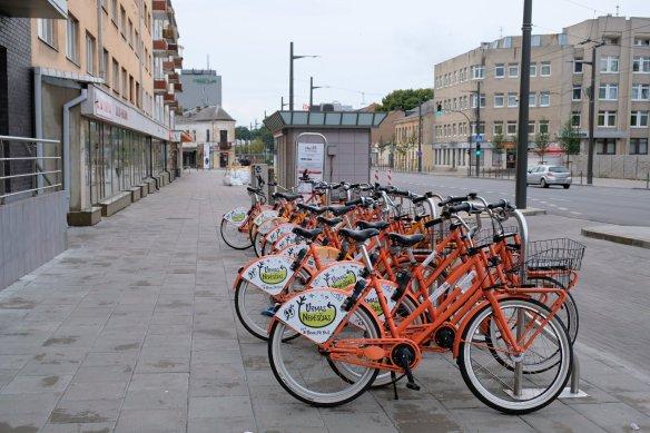 Lånecyklar i Kaunas