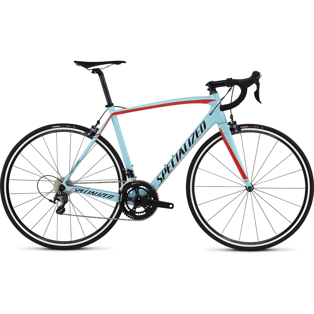 Specialized Tarmac Comp Cen Gloss Light Blue Rocket Red