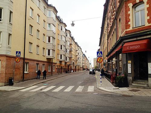 Repslagargatan från Högbergsgatan. Ändrad skyltning, bara att cykla på. Foto: Jens Johansson