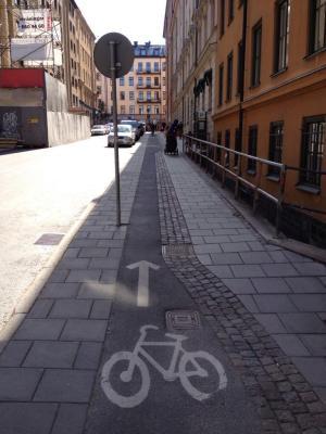 "Vinnaren i ""Smalaste cykelbanan""-tävlingen. Foto: Fredrik Jönsson"