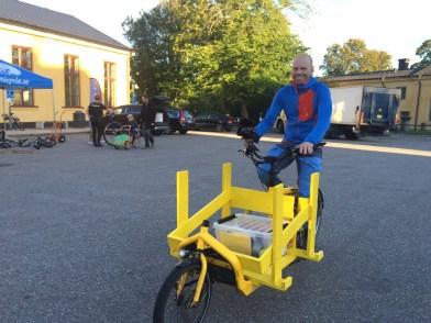 Jon Jogensjö från Cykla med lastcykel