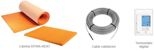 Calefacción en suelo y pared con DITRA-HEAT 03