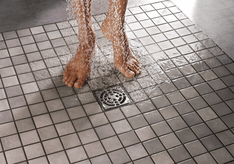 Plato de ducha de obra con drenaje puntual cymper - Plato de ducha de obra ...
