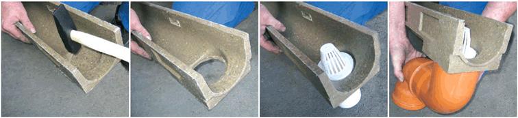 Instalar canaleta de hormigón polímero