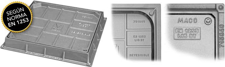 La norma UNE-EN 1253 y la colocación de tapas en interiores
