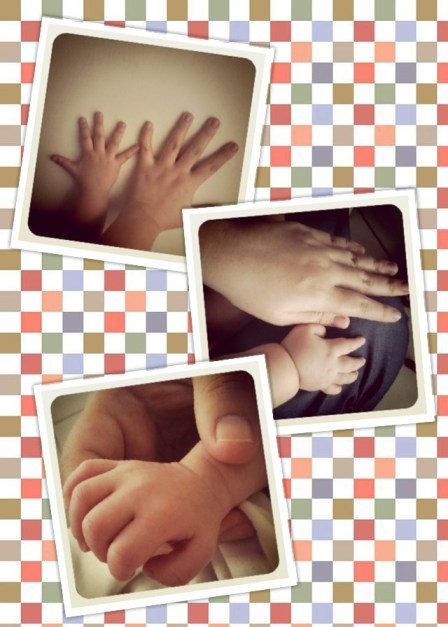 a mother's hand