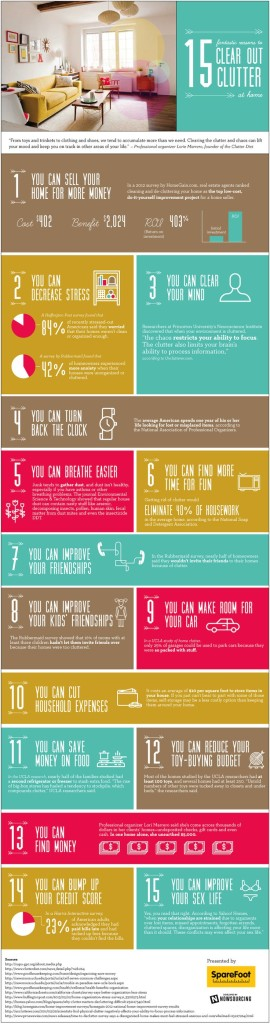 de-clutter infographic