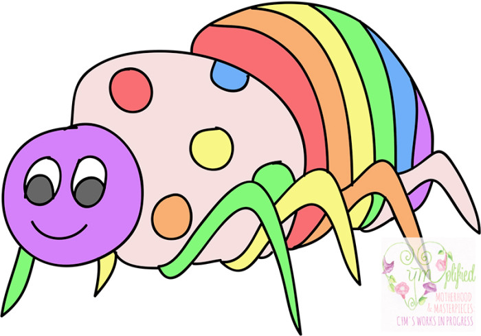 rainbow spider in kindergarten