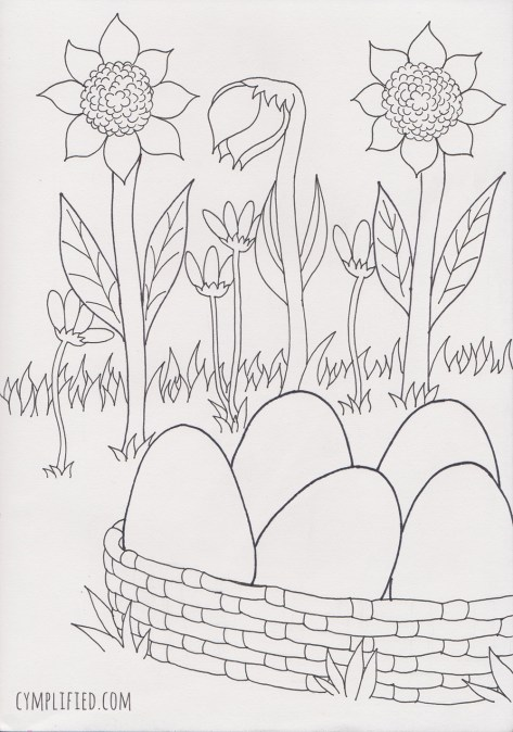 easter coloring page preview